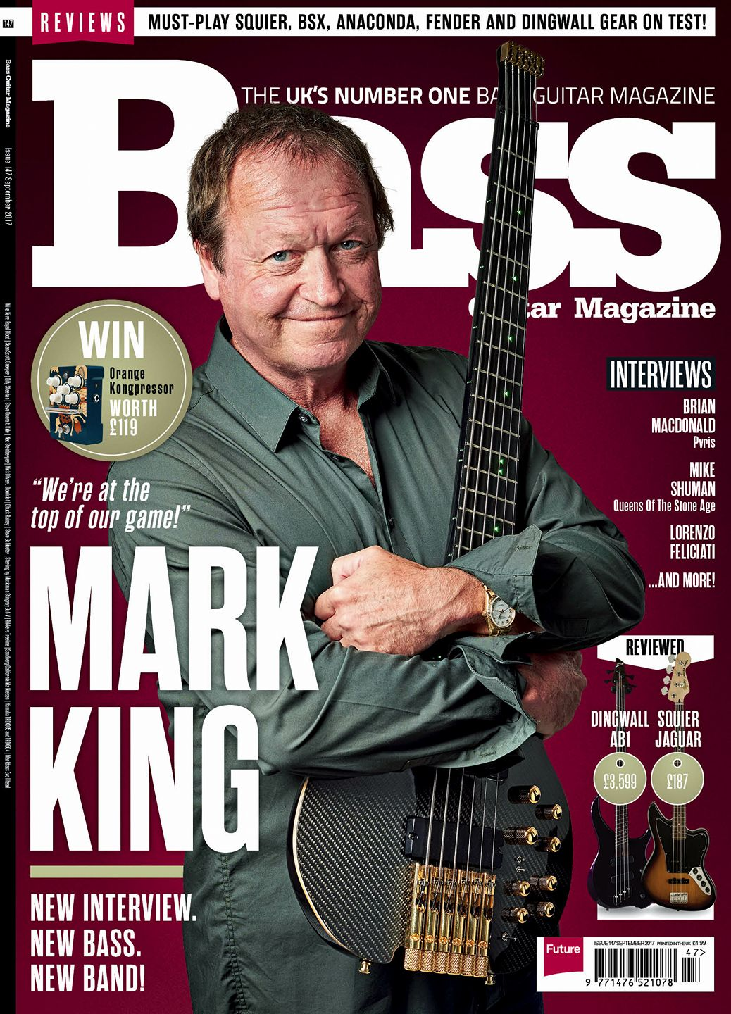 Bass Guitar Magazine September 2017 Level42