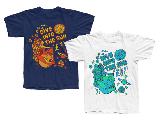 Level 42 Eternity Dive Into The Sun T-shirt in Metro Blue